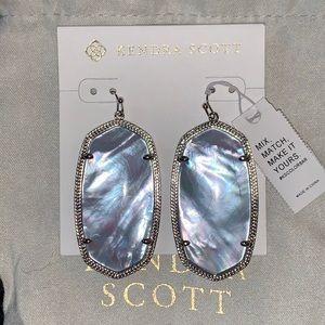 NWT silver Danielle earrings in sky blue